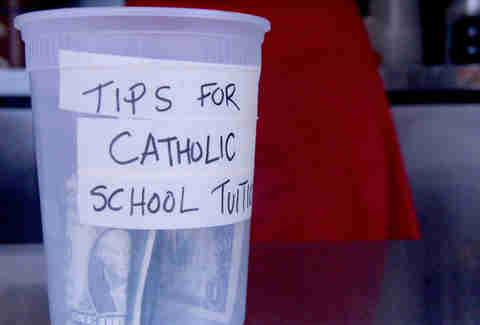 The Cherry Bomb Bus tip jar