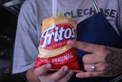 Frito pie Walking Taco from Cherry Bomb Bus
