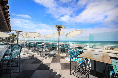 The ocean view at Cannonball in Mission Beach San Diego.
