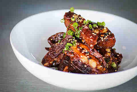 Pork rib tips at Cannonball in Mission Beach San Diego.