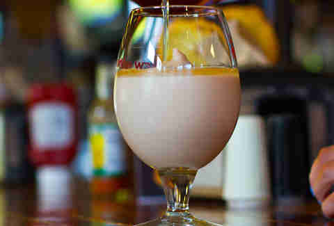 A White Russian-style beertail