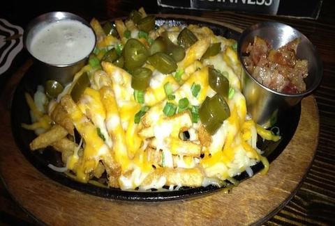 Cheese fries at The Mucky Duck