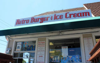 Retro Burger and Ice Cream