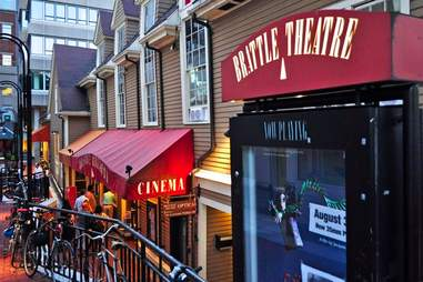 Exterior of the Brattle Theatre