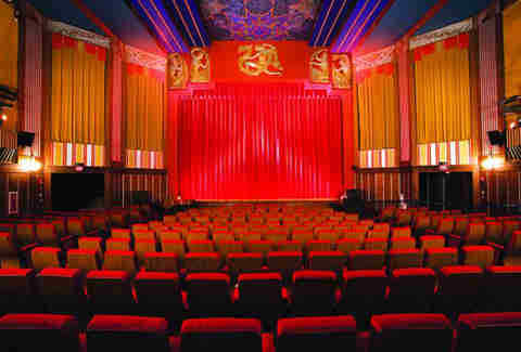 Interior of the Coolidge Corner Theatre