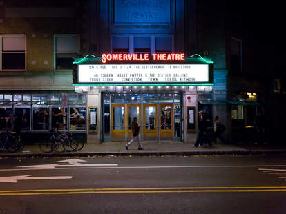 Exterior of Somerville Theatre
