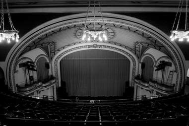 Historic interior of the Somerville Theatre