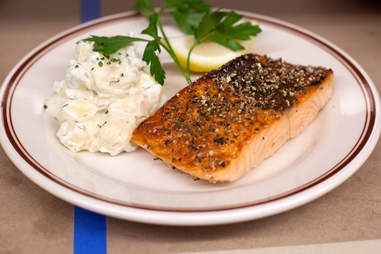 Lemon pepper salmon at Dillman's in River North