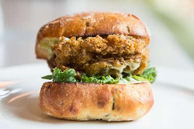 Skillet Fried Chicken Sandwich