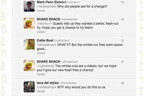 Shake Shack fresh fries Twitter replies