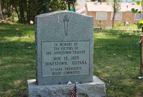 Jonestown grave