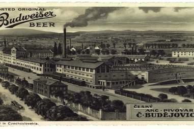 The real Budweiser Brewery in Budweis, Czech Republic.