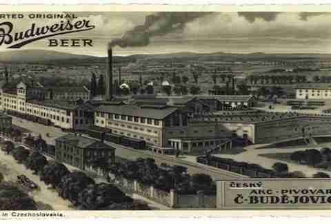 The real Budweiser Brewery in Budweis, Czech Republic.