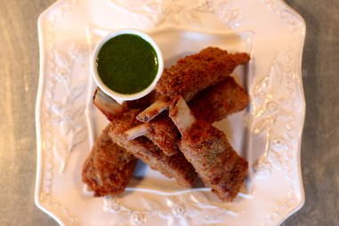 Lamb scrumpets at The Cavalier
