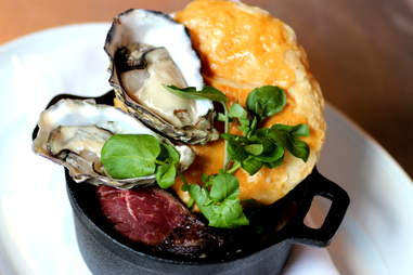 Steak and oyster pie at The Cavalier