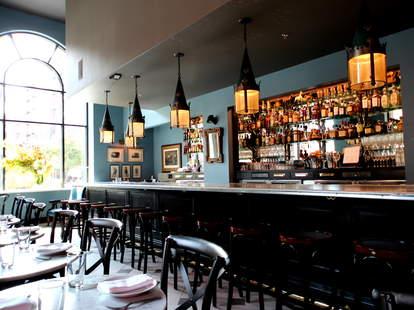 The bar at The Cavalier
