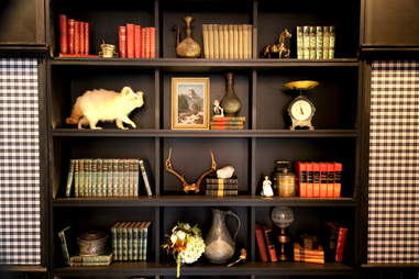 Bookcase at The Cavalier
