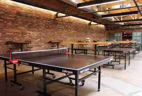 ping pong tables at Ace