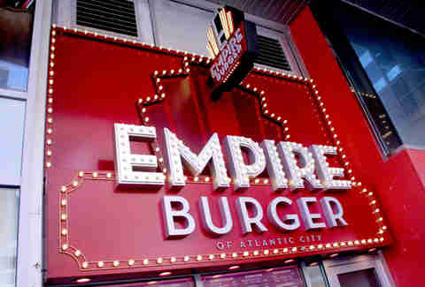 The facade of Empire Burger at the Pier Shops at Caesars in Atlantic City