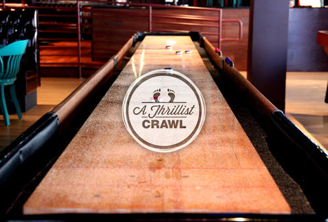 Shuffleboard bar game