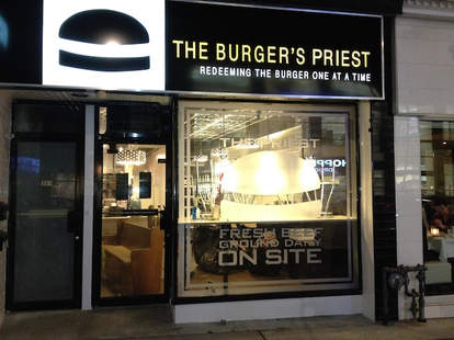 Exterior of The Burger's Priest in Toronto
