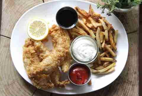 Fish & Chips at Upright Brew House