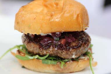 Rocky Mountain burger at Highland Tap and Burger