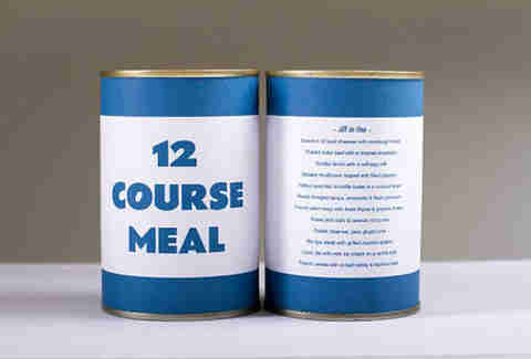 12 course meal can packaging