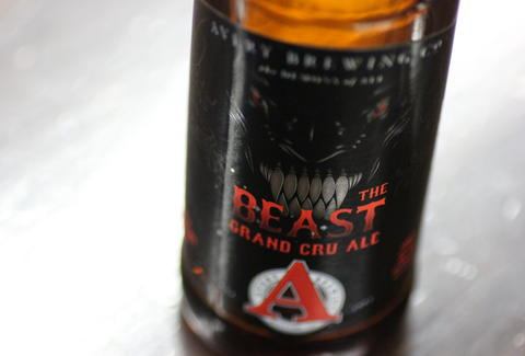 bottle of Avery's The Beast