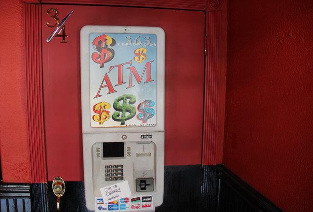 Yes, it\'s hidden behind an ATM