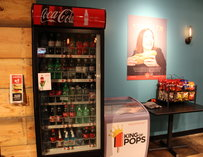 Soda machine at 7 Hens in Atlanta