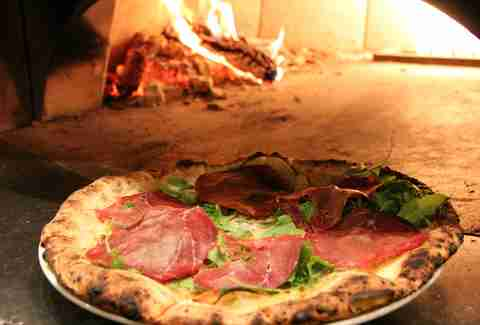 Pizza with prosciutto at Alon's in Dunwoody