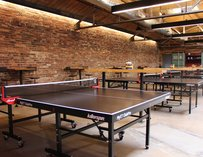 Ace's many ping pong tables