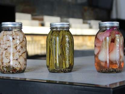 In-house pickling at Square One in Chicago.