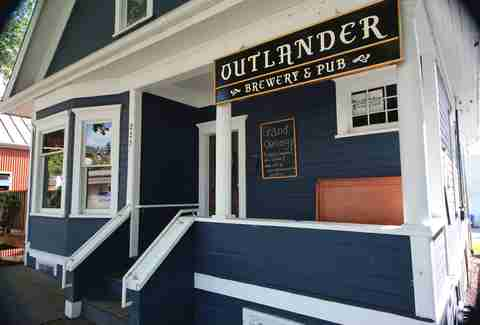 Exterior of Outlander Brewery & Pub in Seattle
