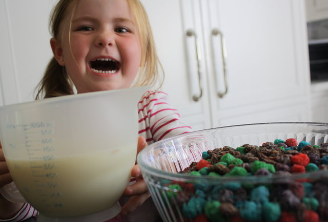 A 4-year-old invents the ultimate breakfast cereal