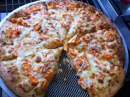 Buffalo chicken pizza at Buffalo Bros