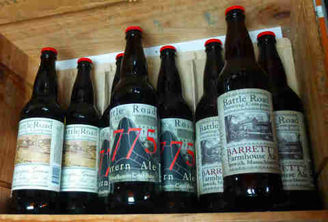 Bottles of beer from Battle Road Brewing Company