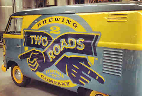 Two Roads Brewing's 1960 VW Panel Van