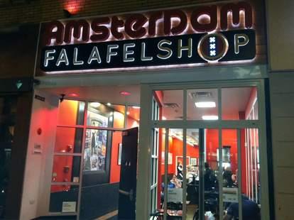 Exterior of Amsterdam Falafelshop