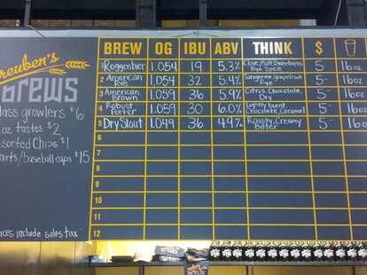 Beers at Reuben's Brews