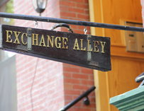The sign outside Exchange Alley