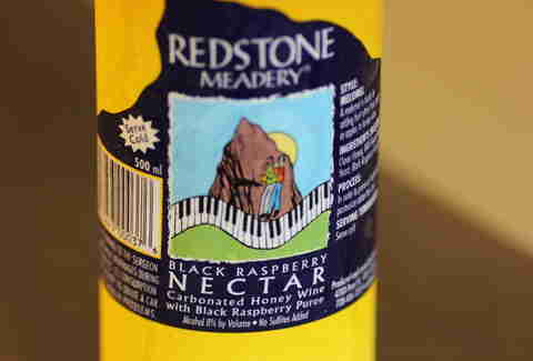 a can of Black Raspberry mead from Redstone Meadery