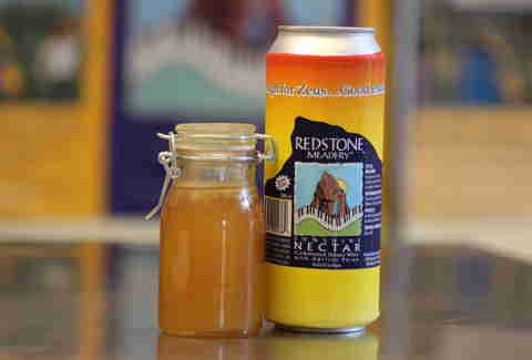 a can of Sunshine mead from Redstone Meadery