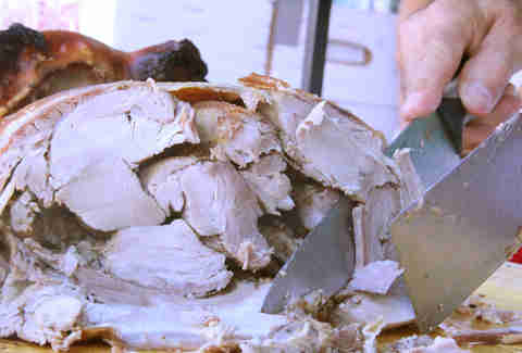 Carving whole hog at the Brooklyn Flea Philly