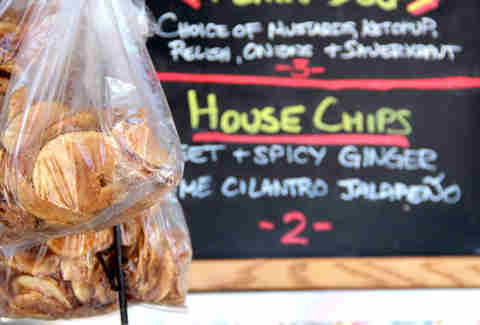 Potato chips from The Hot Diggity at the Brooklyn Flea Philly