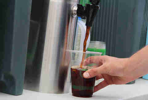 Iced coffee from Joe Coffee at the Brooklyn Flea Philly