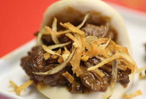 Mongolian Beef bun at Soi Chinese Kitchen