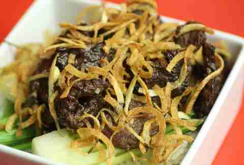 Szechuan beef at Soi Chinese Kitchen