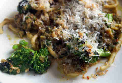Bigoli and broccoli w/ sprinkled with pecorino roman at Ribelle